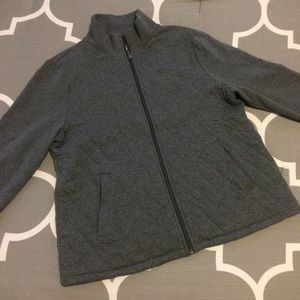 Gray Talbots Mock Neck Sweatshirt